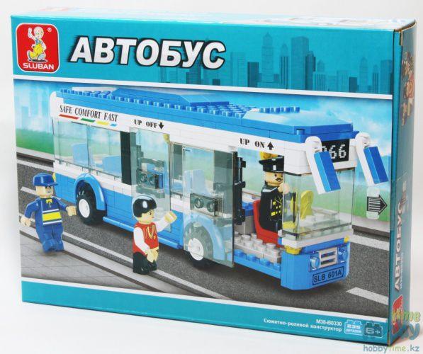 """Конструктор SLUBAN """"Одноэтажный автобус"""" 235 дет, M38-B0330"""