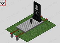 Памятник одинарный с установкой №2