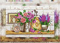 """Схема для вышивки бисером на подрамнике (холст) """"Натюрморт с розами и гиацинтами"""""""