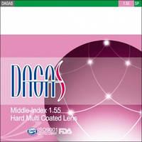 Очковая линза Dagas 1.55 HMC UV-380