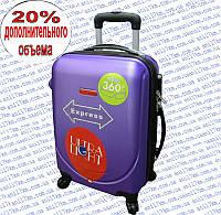 Средний пластиковый чемодан на четырёх колёсах GRAVITT