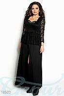 Вечернее платье плюссайз. Цвет черный.