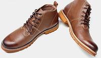Мужские кожаные ботинки 38-43. Модель 977, фото 1