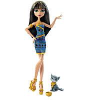 Кукла Клео де Нил с котенком   Monster High Cleo De Nile Doll with Kitten