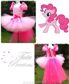 """Карнавальний костюм, юбка-платье из фатина  """"Пони Пинки Пай"""""""