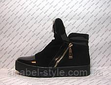 Ботинки женские замшевые с лаковыми вставками Код 193, фото 2