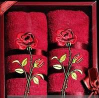 """Подарочный набор полотенец """"Роза"""""""