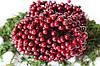 Глянцеві ягоди (калина) 500 шт/уп. 0,7 см діаметр, бордового кольору оптом НГ
