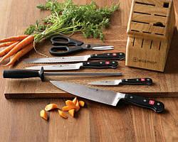 Ножі кухонні, ножиці, мусаты, магніти для ножів