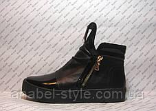 Ботинки-криперсы женские стильные натуральная кожа на толстой подошве, фото 2