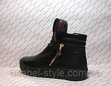 Ботинки-криперсы женские стильные натуральная кожа на толстой подошве, фото 3