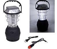 Светодиодная Led лампа LS-360 (36ди) Динамо, солнечная панель, аккумуляторная, светотехника