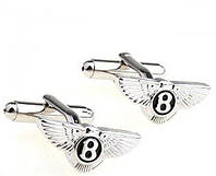 Запонки Bentley, серебристые