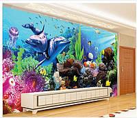"""Фотообои """"Подводный мир"""", текстура песок, штукатурка"""