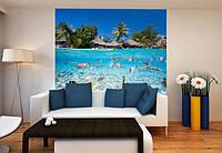 """Фотообои """"Рыбы на Мальдивах"""", текстура песок, штукатурка"""