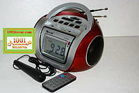БУМБОКС. Колонка, караоке, часы, MP3 - GOLON RX 656Q Red