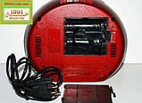БУМБОКС. Колонка, караоке, часы, MP3 - GOLON RX 656Q Red, фото 3