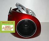 БУМБОКС. Колонка, караоке, часы, MP3 - GOLON RX 656Q Red, фото 2