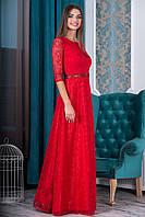 Вечернее длинное Платье Мэриан красное
