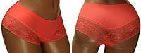 Трусы бразилианы-шорты комбинированные: низ - мягкое кружево, верх - бесшовная эластичная ткань. Розница, опт.