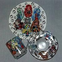 Детские наборы посуды из стекла