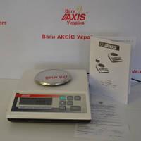 Весы лабораторные A500, до 500 грамм, внешняя калибровка (Аксис).