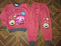 Детские теплые комплекты 2-х нитка на байке   Смайлик для девочек 5 лет Турция
