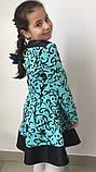 Нарядное платье Завитки с отделкой кожа 116-140р., фото 5