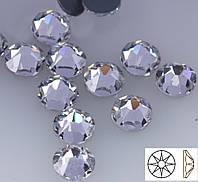 Стразы термоклеевые копия Swarovski SS20 (5,0 мм) Crystal, 16 граней. Цена за 144 шт