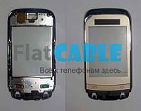 Сенсор Nokia C2-03/C2-06 золото с рамкой