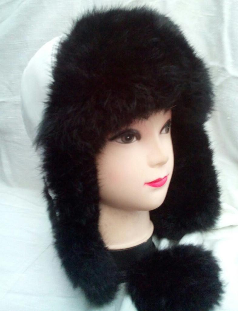 Детская зимняя шапка ушанка натуральный мех кролика