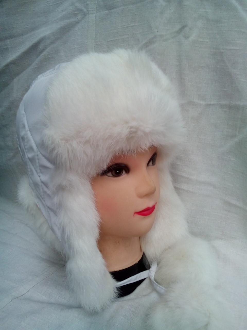 Детская зимняя шапка ушанка из натурального меха