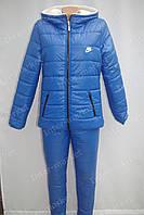 Женский зимний спортивный костюм Nike электрик