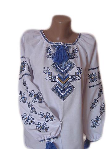 """Жіноча вишита сорочка (блузка) """"Мойрін"""" (Женская вышитая рубашка (блузка) """"Мойрин"""") BT-0036"""