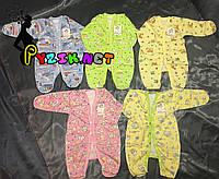 Человечек для новорожденного футер (хлопок 100%) 56-62 р-р, цвет на выбор