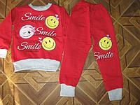 Детский теплый костюм 2-х нитка на байке для девочки 5 лет Турция