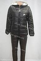 Женский теплый зимний костюм Nike черный