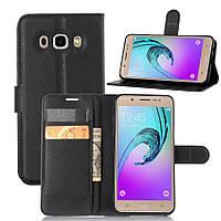 Чехол для Samsung Galaxy J5 2016 J510 книжка кожа PU черный