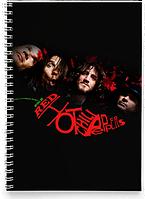 Блокнот Тетрадь Red Hot Chili Peppers, №3