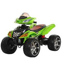 Детский квадроцикл M 3101 EBLR-5: 12V, 90W, EVA-колеса, пульт 2.4G-Салатовый-купить оптом