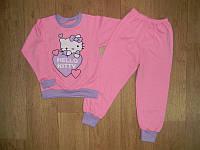 Пижама футер с начесом! девочка,розовая р. 92,98,104-110, 116, 122-128