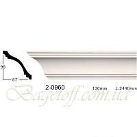 Карниз(плинтус) потолочный гладкий Classic Home 2-0960, лепной декор из полиуретана