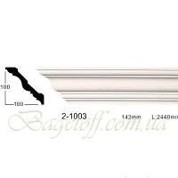 Карниз(плинтус) потолочный гладкий Classic Home 2-1003, лепной декор из полиуретана