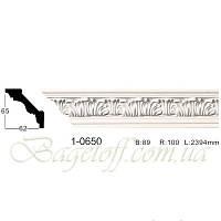 Карниз(плинтус) потолочный с орнаментом Classic Home 1-0650, лепной декор из полиуретана