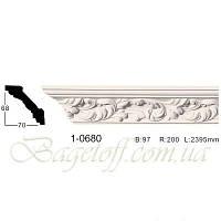 Карниз(плинтус) потолочный с орнаментом Classic Home 1-0680, лепной декор из полиуретана