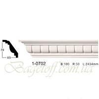Карниз(плинтус) потолочный с орнаментом Classic Home 1-0702, лепной декор из полиуретана