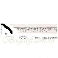 Карниз(плинтус) потолочный с орнаментом Classic Home 1-0703, лепной декор из полиуретана