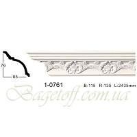 Карниз(плинтус) потолочный с орнаментом Classic Home 1-0761, лепной декор из полиуретана