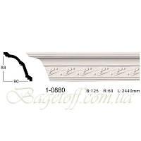 Карниз(плинтус) потолочный с орнаментом Classic Home 1-0880, лепной декор из полиуретана