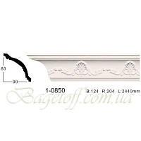 Карниз(плинтус) потолочный с орнаментом Classic Home 1-0850, лепной декор из полиуретана